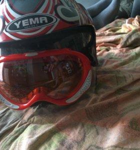 Шлем на мото новый