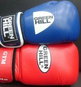 Перчатки бокс Green Hill Gym