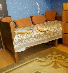 Кровать раздвижная с матрасом