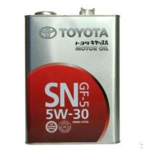 Масло оригинальное Toyota 5w30 4L