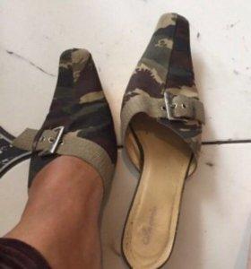 Туфли хаки+майка Хаки