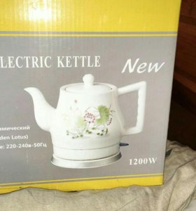 Новый электрический керамический чайник