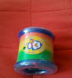 Игрушка разноцветная перекатывалка с шариками