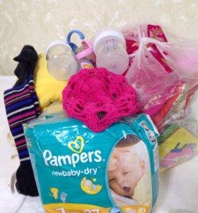 Пакет( большой)))) детских вещей, бутылочек, пампе