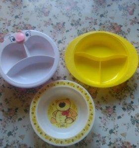 Детские тарелочки.