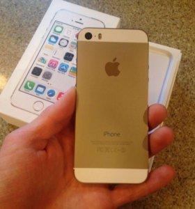 Золотой iPhone 5s 16 гб