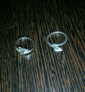 Два серебряных кольца