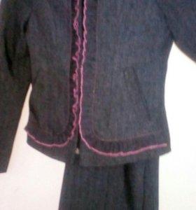 Пиджак и брюки на девочку .