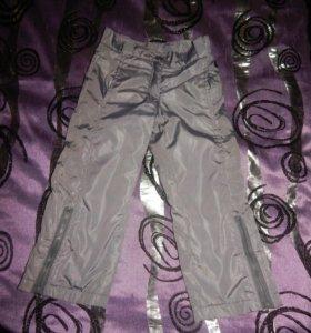 брюки из плащевки на флисе