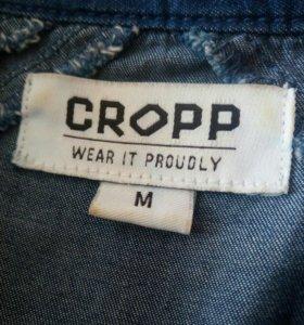 Рубашка блузка женская m джинсовая