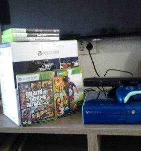 Xbox 360 E 500 gb+ Kinect+5 игр