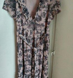 Летнее платье с поясом Lindex (подойдёт беременным