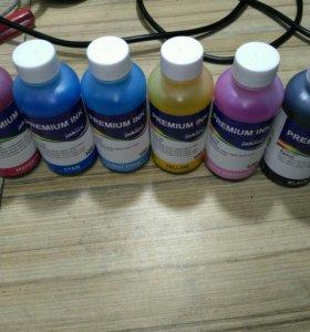 Краски для принтеров Epson набор 6 цветов новые