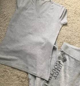 Велюровые штаны Juicy couture+футболка