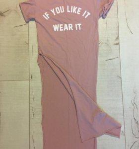 """Новая удлинённая футболка """"Bershka"""""""