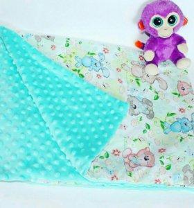 Плед одеяло из плюша