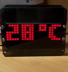 Набор для сборки Часы на LED матрице DIY