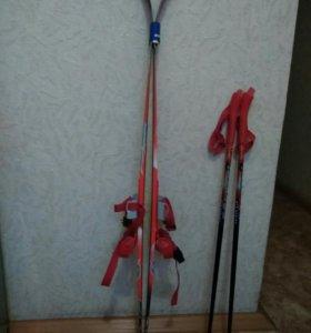 Лыжи детские (новые)