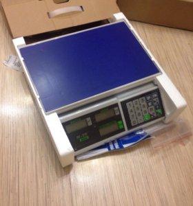 Весы торговые M-ER 326 AC c АКБ (новые) до 32 кг