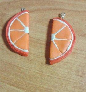 Серьги апельсинки
