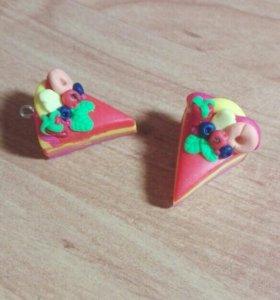 Серьги тортики