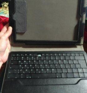 Переносная клавиатура + обложка чехол для планшета