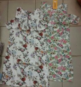 Новое платье сарафан оборки рюши цветы розы