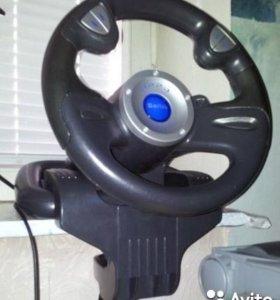Игровой руль с педалями sitek 220