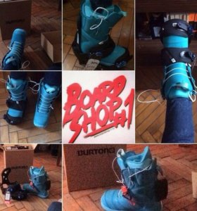 Сноуборд + крепы + ботинки BURTON
