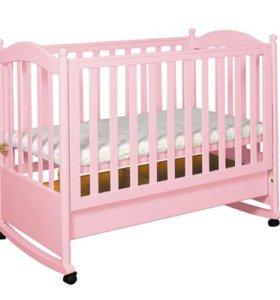 Кровать детская, балдахин и матрас