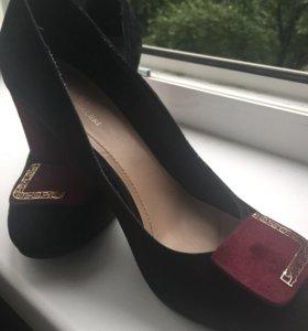 Туфли SV натуральная замша