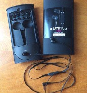 Наушники для iPhone (MFi) a-Jays Four