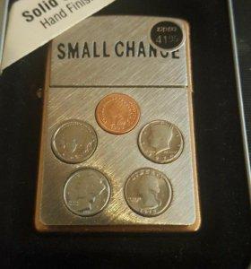 Зажигалка Zippo Small Change Solid Copper.