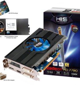Продам бу видеокарту HIS PCI-Ex Radeon HD7790 turb