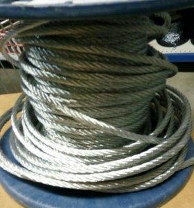 Трос -Веревка стальная диаметром-10мм.длина-1.2км.