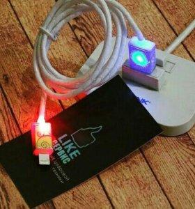 USB кабель с подсветкой 💡 для IPhone и Android