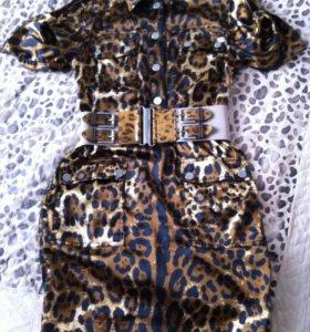 Платье Dolce&Gabbana в стиле сафари