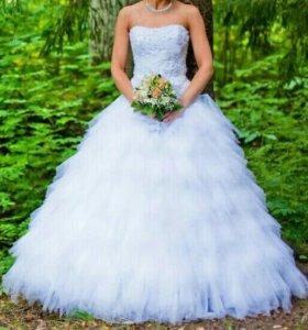 Свадебное платье 42р-р+ сумочка и туфли