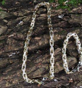 Комплект браслет+цепочка, 8мм