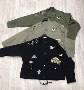 Куртка парка с нашивками