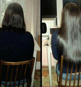 Наращивание волос итальянским капсульным способом