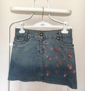 Мини юбка джинсовая, р. 40-42