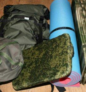 Комплект снаряжение для походов и рыбалки.
