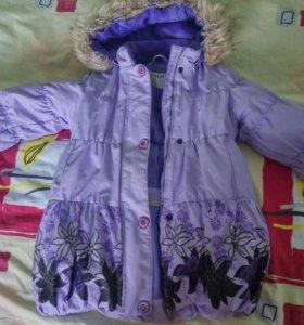Пальто для девочки 2-4 года