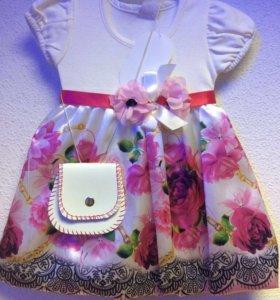 Платье для девочки на 2 года