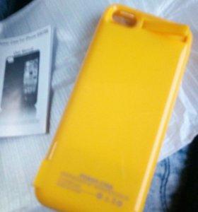 Аккумулятор ,зарядка ,чехол для айфон 5,5s и se