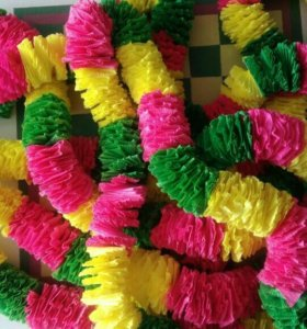 Леи для гавайской вечеринки