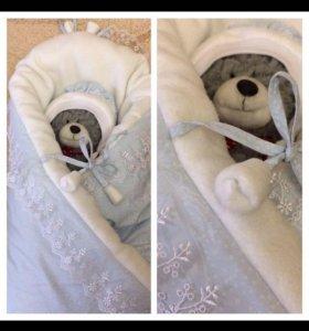 Зимнее одеяло на выписку
