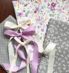 Ткань хлопок сатин цветы