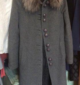 Пальто из кашемира и шерсти (xs)